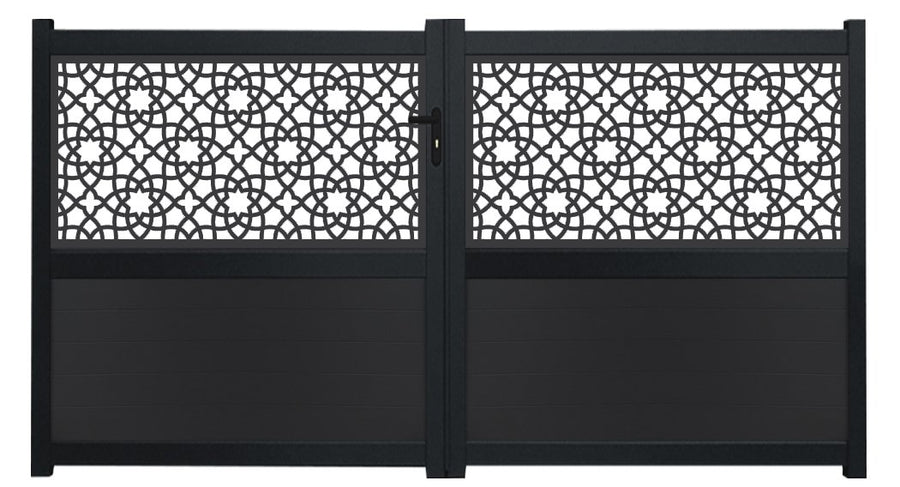 Alhambra Screen Driveway Gate - Dove Grey