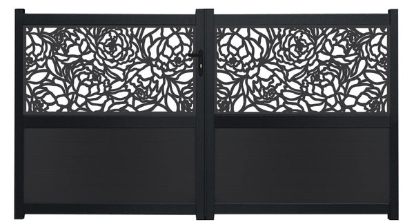Bloom Screen Driveway Gate - Anthracite