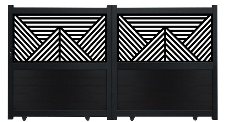 Vector Screen Sliding Driveway Gate - Black