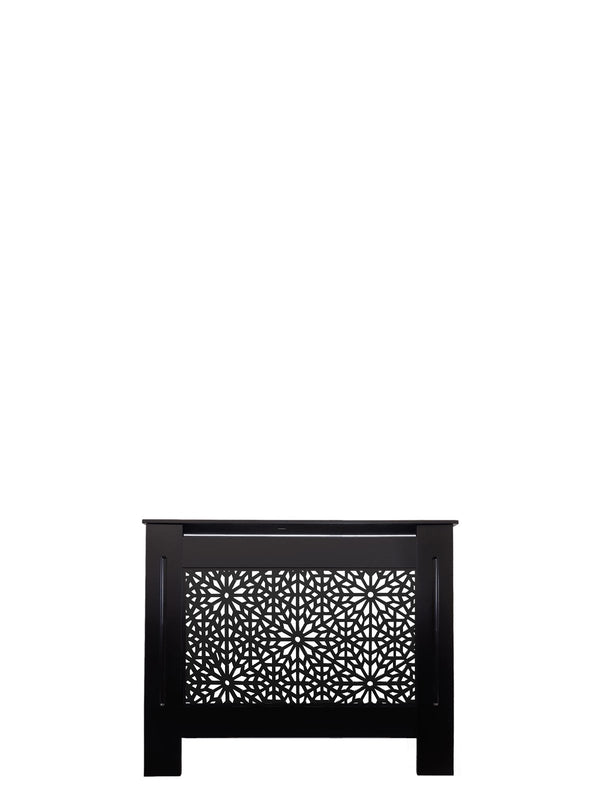Black Radiator Cover - Moucharabiya - 152cm