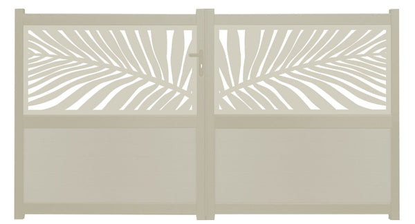 Frond Screen Driveway Gate