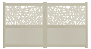 Kerplunk Screen Driveway Gate - Cream