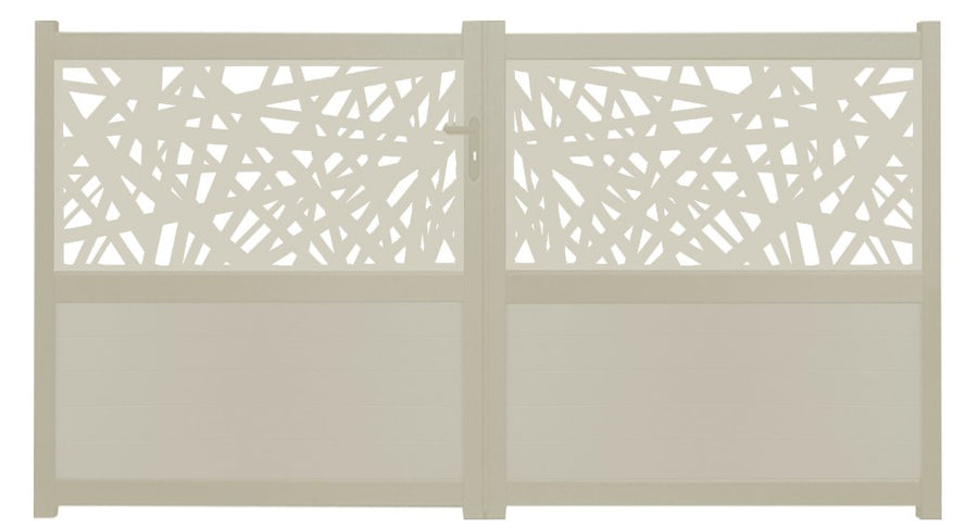Kerplunk Screen Sliding Driveway Gate - Cream