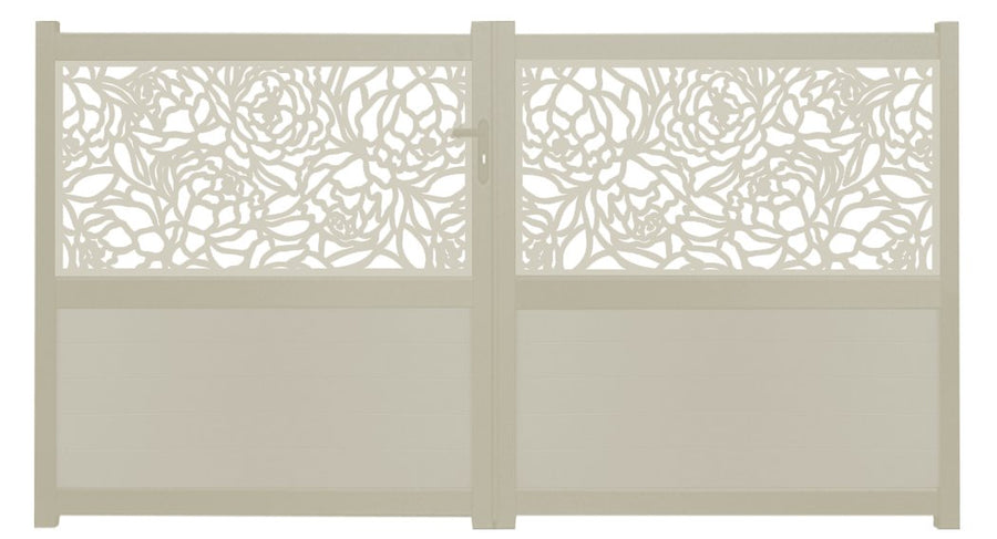 Bloom Screen Driveway Gate - Cream