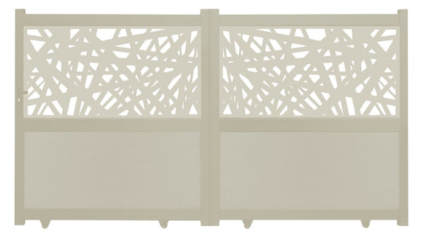 Kerplunk Screen Sliding Driveway Gate - Dove Grey