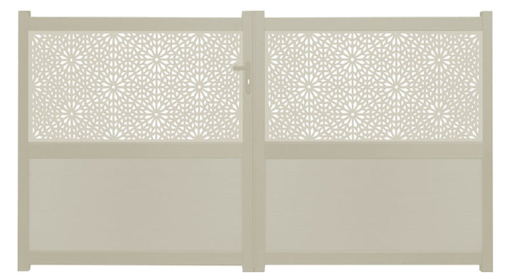 Moucharabiya Screen Driveway Gate - Cream