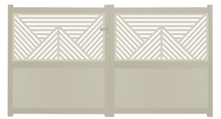 Vector Screen Sliding Driveway Gate - Dove Grey