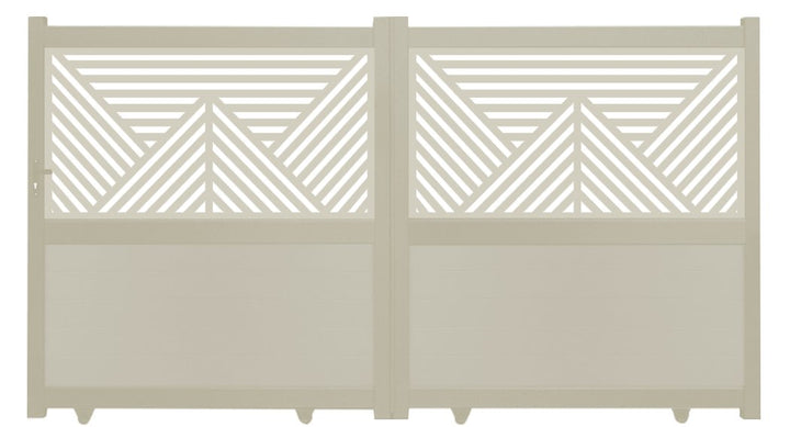 Vector Screen Sliding Driveway Gate - Cream