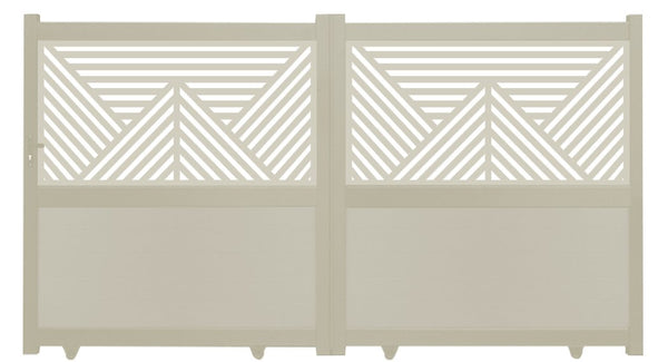 Vector Screen Driveway Gate - Cream