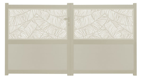 Verdure Screen Sliding Driveway Gate - Cream