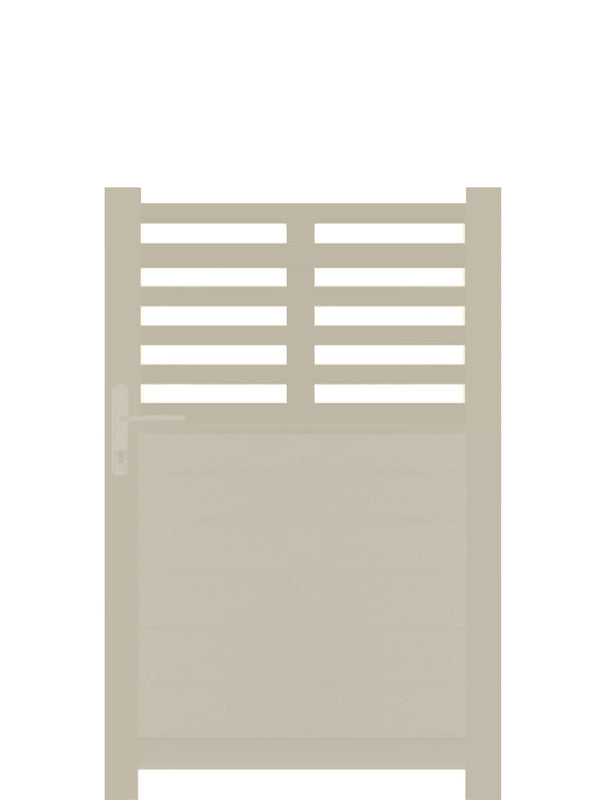 Slat Top Pedestrian Gate - Cream - 6ft height