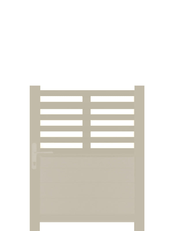 Slat Top Pedestrian Gate - Cream - 4ft height