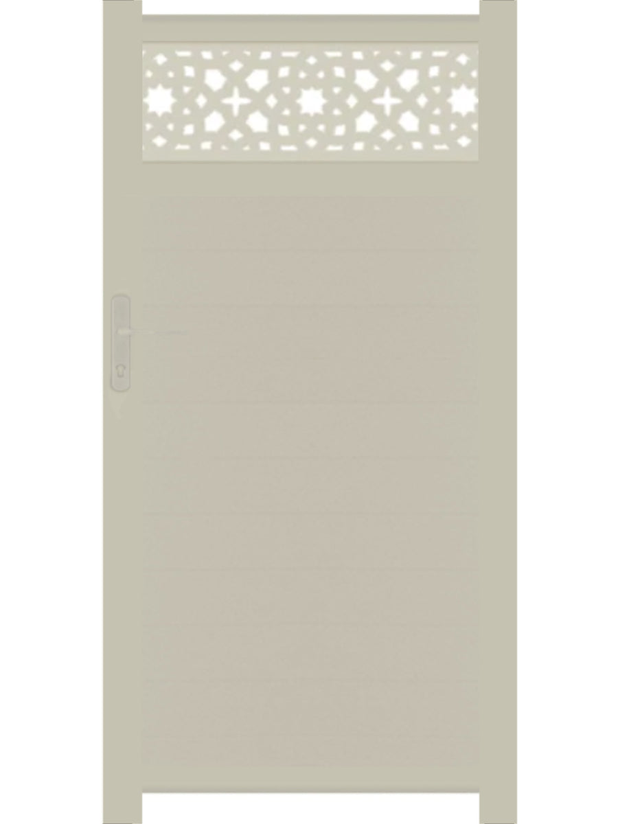 Alhambra Trellis Pedestrian Gate - Cream - 3ft height