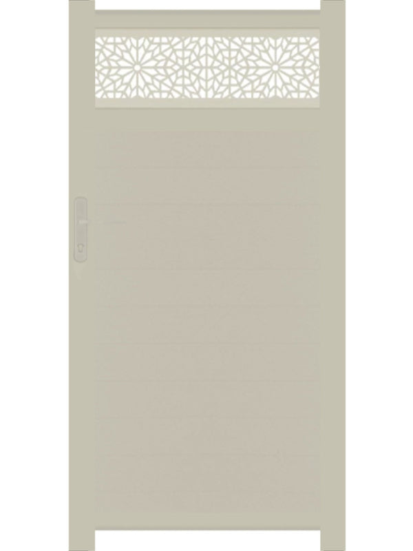 Moucharabiya Trellis Pedestrian Gate - Cream - 4ft height