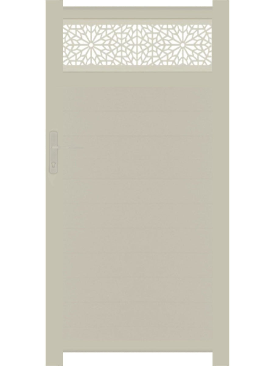 Moucharabiya Trellis Pedestrian Gate - Dove Grey - 3ft height