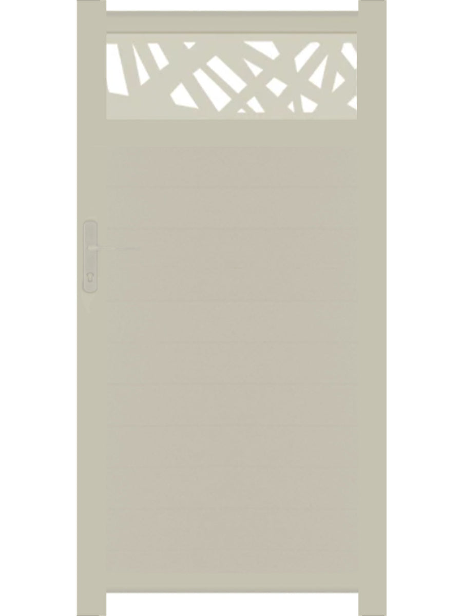 Kerplunk Trellis Pedestrian Gate - Cream - Tall