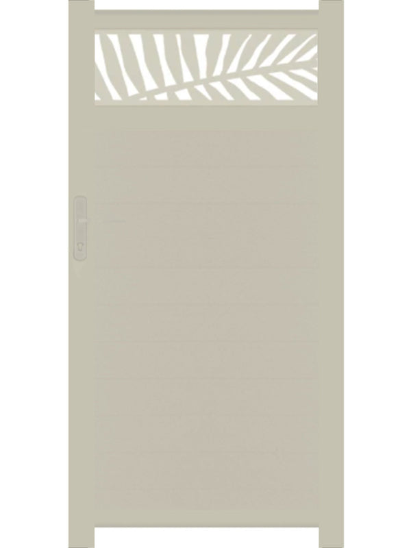 Frond Trellis Pedestrian Gate - Cream - 3ft height