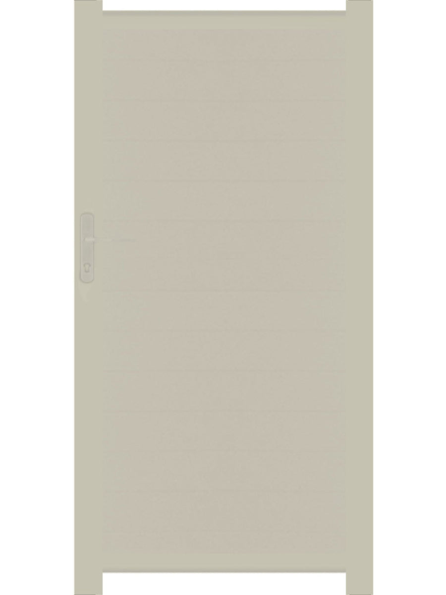Full Privacy Pedestrian Gate - Cream - 4ft height