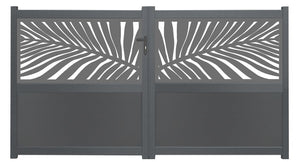 Frond Screen Sliding Driveway Gate - Anthracite