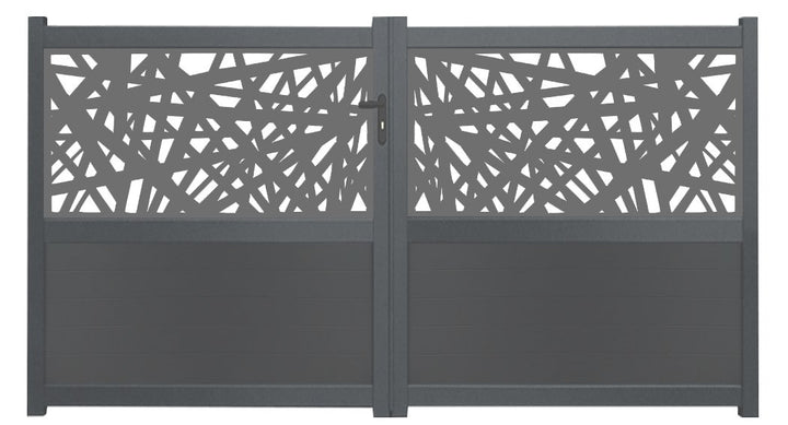 Kerplunk Screen Driveway Gate - Dove Grey