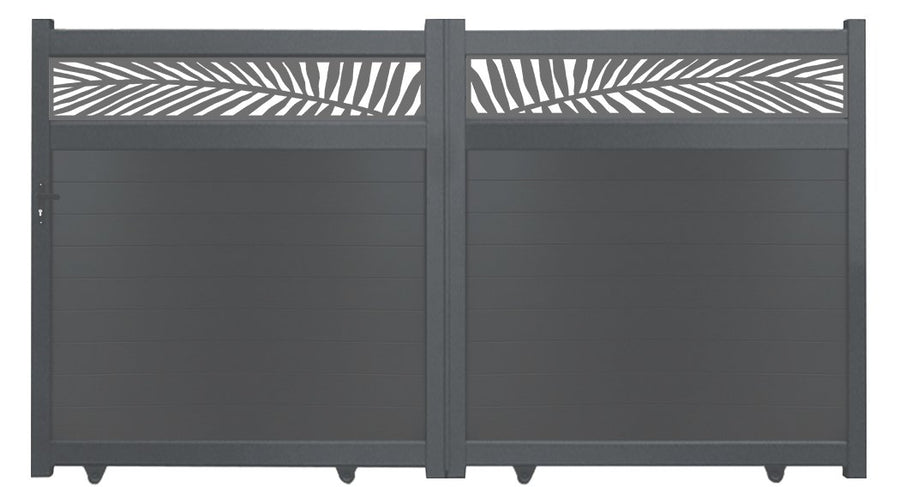Frond Trellis Driveway Gate - Anthracite