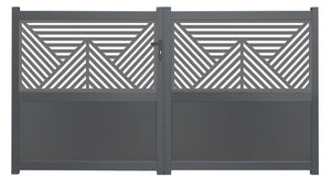 Vector Screen Driveway Gate - Black