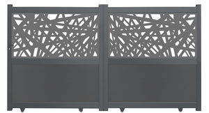 Kerplunk Screen Driveway Gate - Black