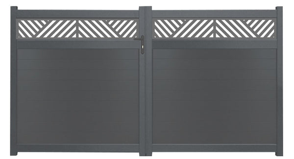 Vector Trellis Driveway Gate - Anthracite