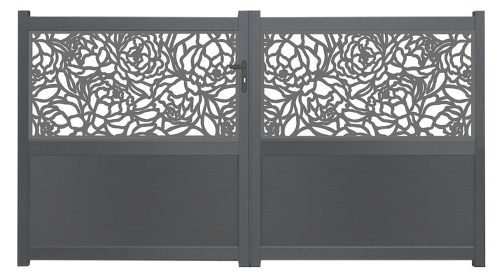 Bloom Screen Driveway Gate - Dove Grey