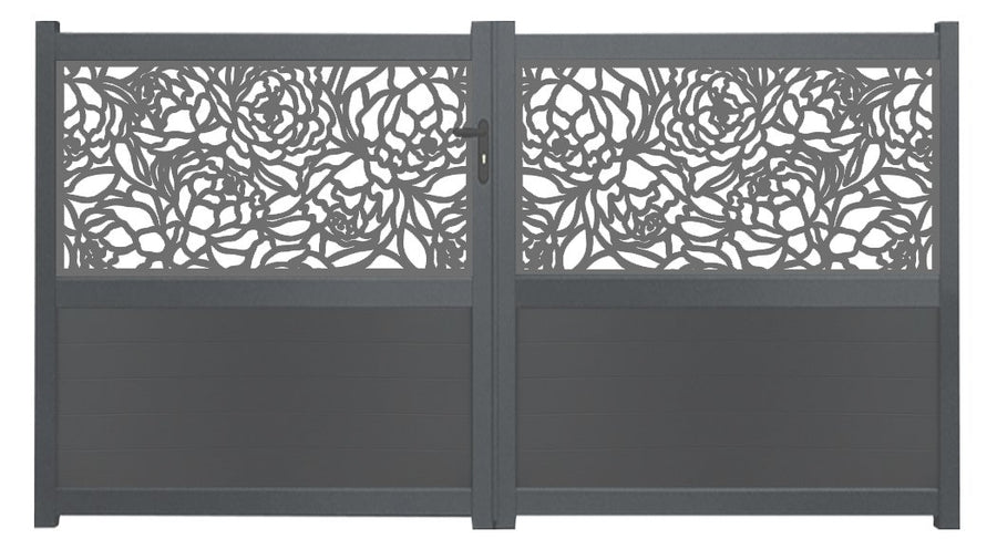 Bloom Screen Sliding Driveway Gate - Anthracite