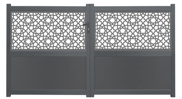 Alhambra Screen Sliding Driveway Gate - Cream