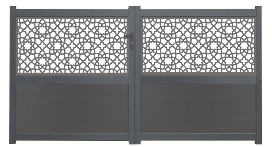 Alhambra Screen Sliding Driveway Gate - Anthracite