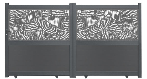 Verdure Screen Driveway Gate - Anthracite