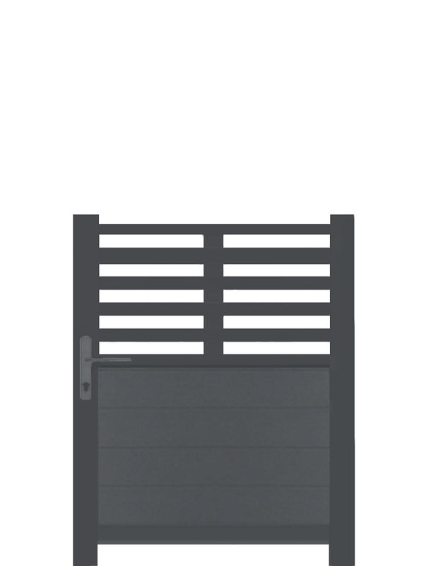 Slat Top Pedestrian Gate - Dove Grey - 6ft height