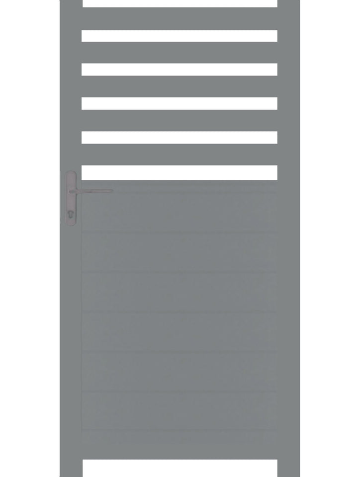 Slat Pedestrian Gate - Dove Grey