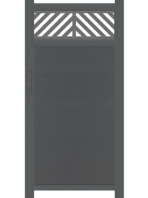 Vector Trellis Pedestrian Gate - Black - 3ft height