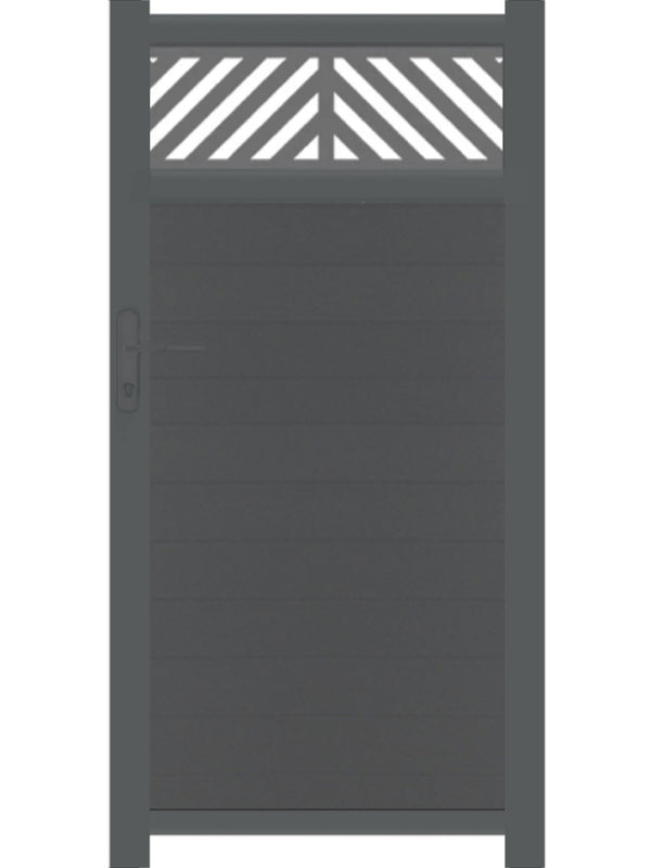 Vector Trellis Pedestrian Gate - Dove Grey - 4ft height