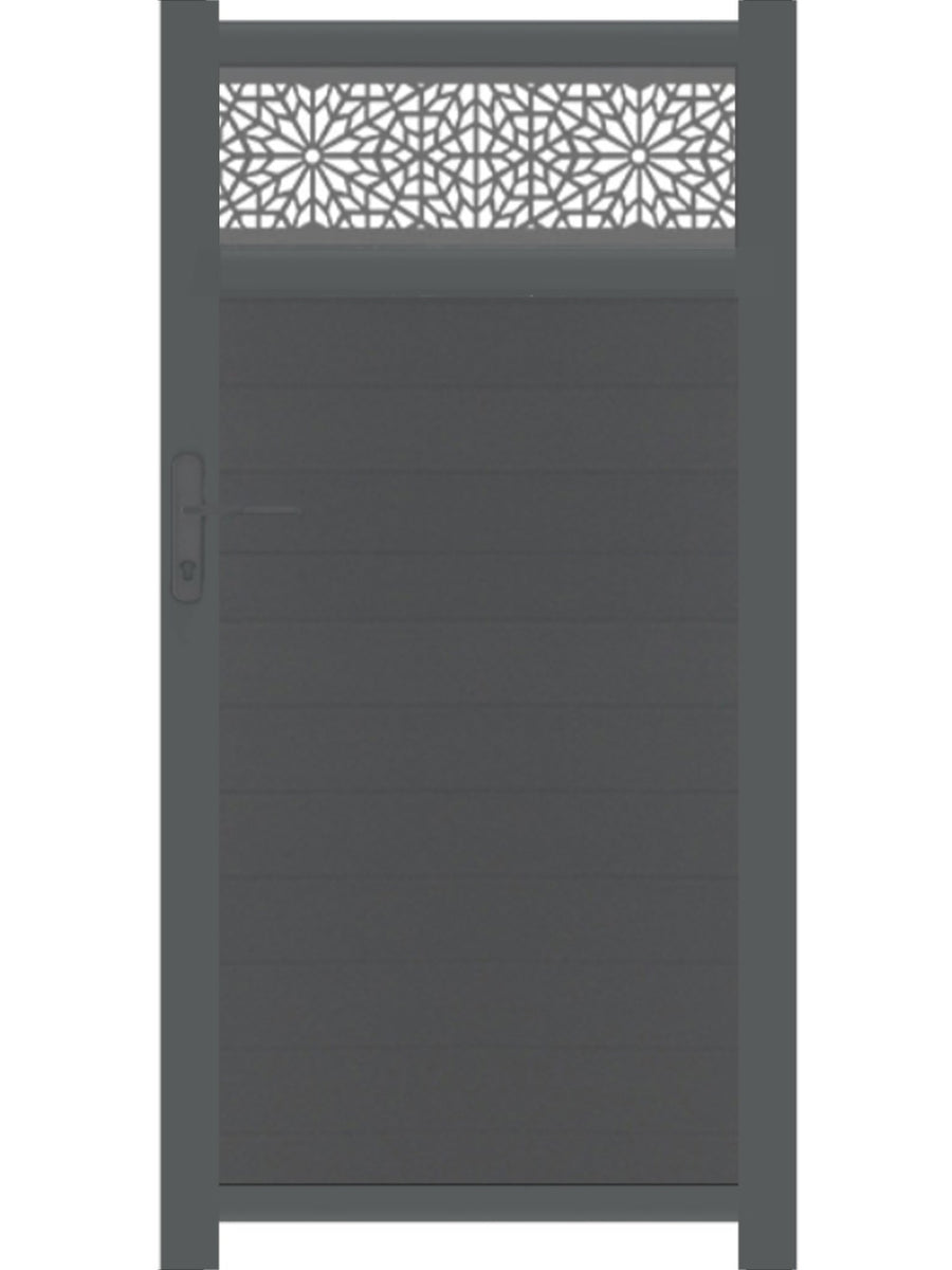 Moucharabiya Trellis Pedestrian Gate - Dove Grey