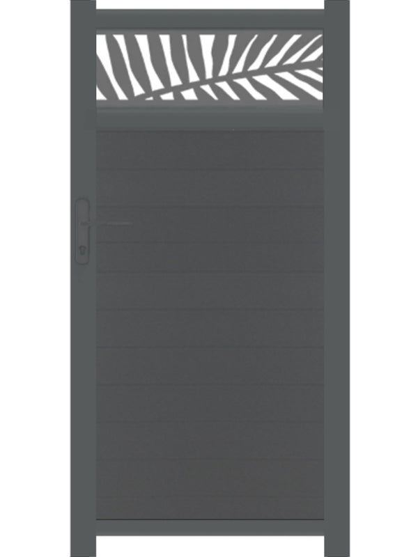 Frond Trellis Pedestrian Gate - Anthracite - 3ft height