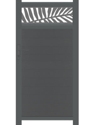 Frond Trellis Pedestrian Gate - Anthracite - 4ft height