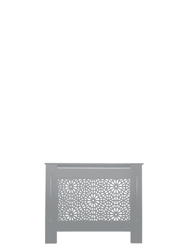 Dove Grey Radiator Cover - Moucharabiya - 152cm