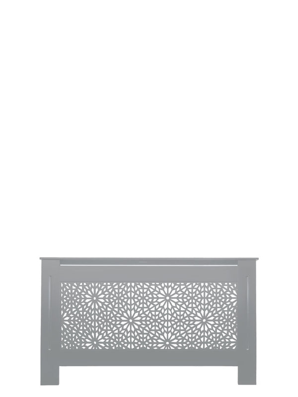 Dove Grey Radiator Cover - Moucharabiya - 78cm