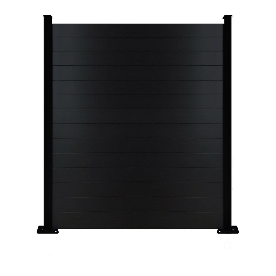 Composite Fence Panel - Black - 7ft Tall