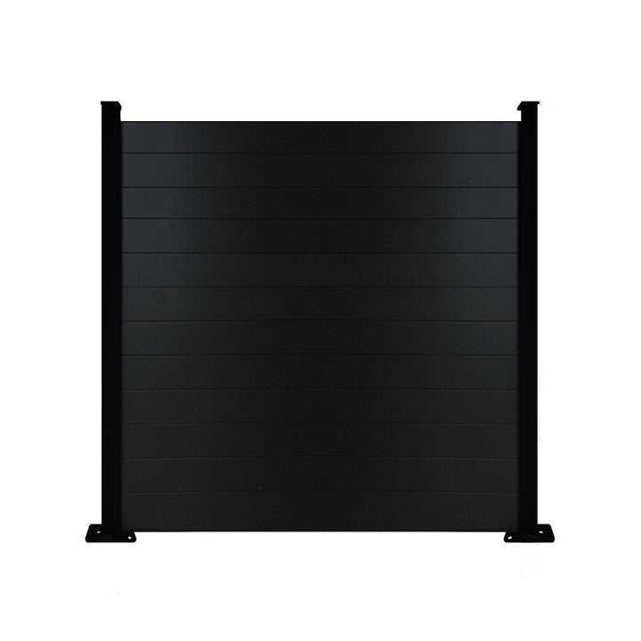 Composite Fence Panel - Black - 6ft Tall
