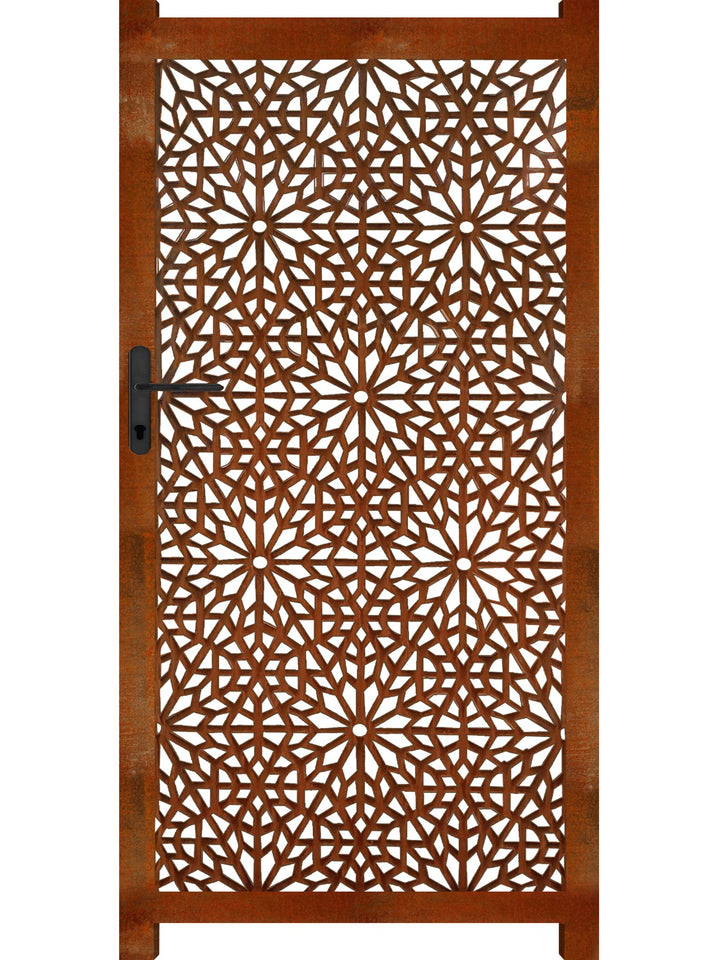 Moucharabiya Screen Gate - Corten