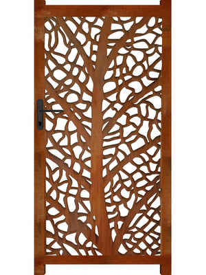 L'Arbre Screen Gate - Corten