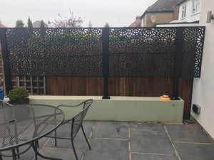 2 Dove Grey Frond Large Screen with 3 Posts + 3 FREE Trellises