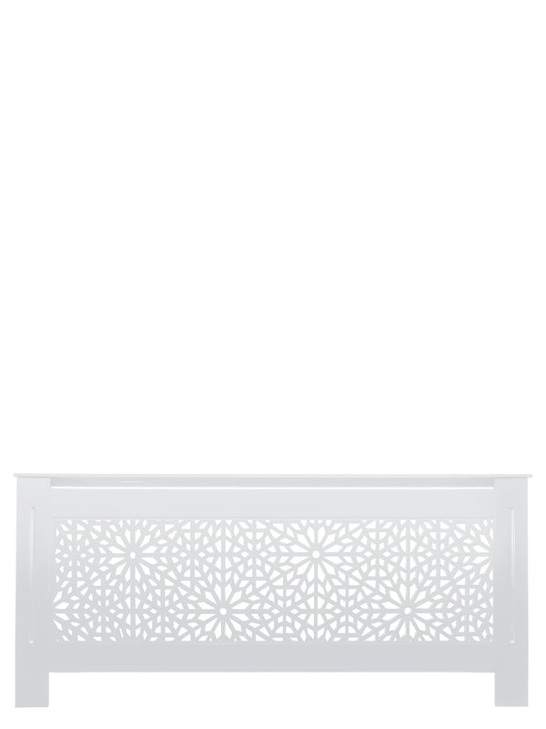White Radiator Cover - Moucharabiya - 78cm