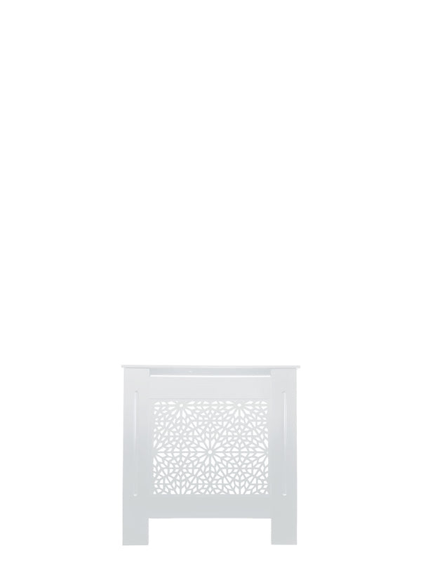 White Radiator Cover - Moucharabiya - 152cm