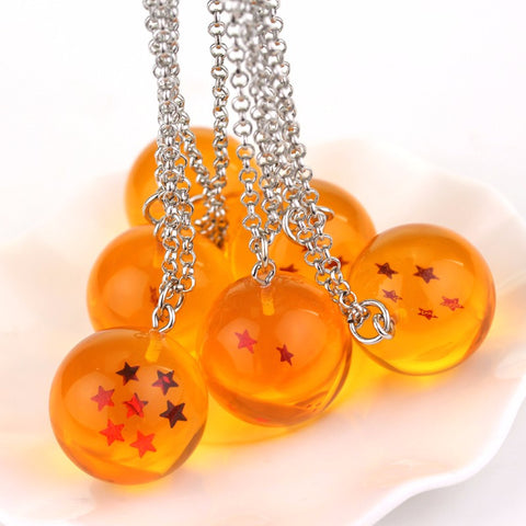 14 Style Dragon Ball Z Crystal Ball 1-7 Stars Necklace Pendant Keychain